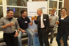 Bruker Optics Usermeeting 2018 (ltr) T. Kowalik (Fraunhofer IFAM Bremen), CM, F. Koschine (Bruker Optics), Tino Golub, Nora Kreienborg
