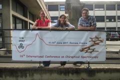 Karoline, Corina and Christian at CD2017 in Rennes, France