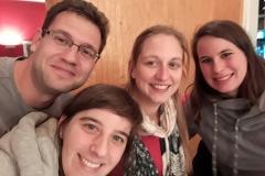 Bruker Optics Usermeeting 2017 (ltr):, CM, Corina Pollok, C. Fulde (AK Sander, RUB), Karoline Bünnemann