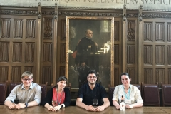 Chirality 2018, Princeton, USA (ltr): Tino Golub, Corina Pollok, CM, Karoline Bünnemann (Photographer: Golo Storch)