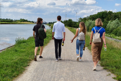 1st post-vaccination group outing : walk along Datteln-Ems canal