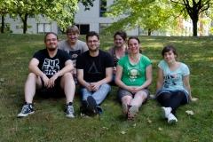 Group summer 2016 (ltr): Tobias, Tino, CM, Nora, Karoline, Corina
